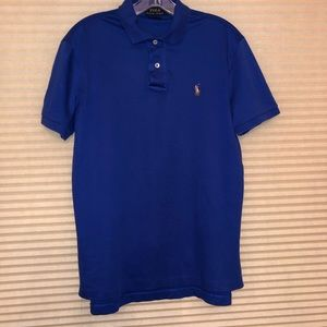 POLO RALPH LAUREN Royal Blue Pima Soft Touch Polo